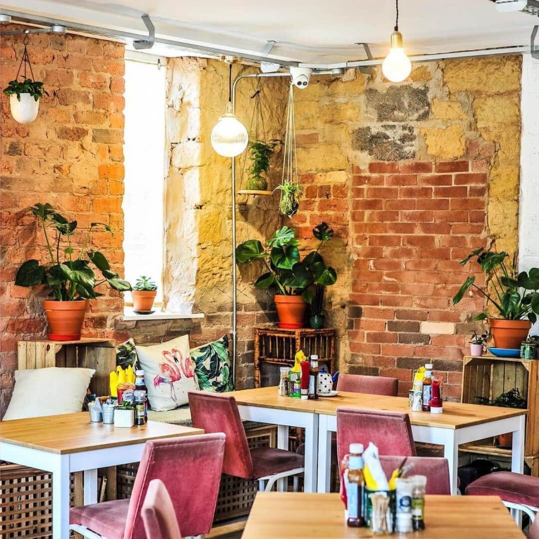 Inside Sebbys Cafe in Headingley