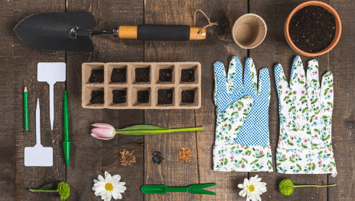 Gardening tools, gloves, flowers, plant pots, tools #gardening