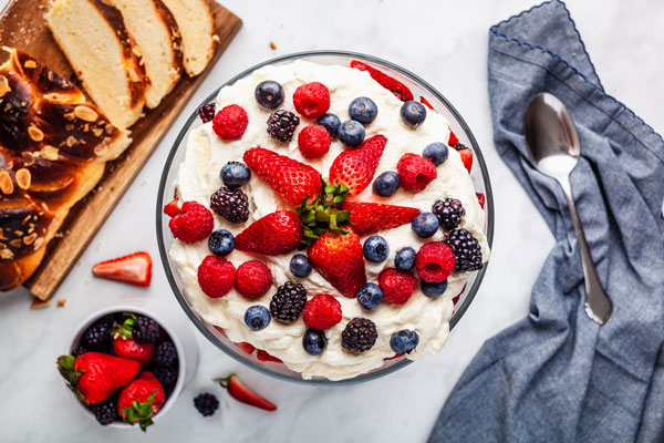 Quick And Easy Mixed Berry Trifle