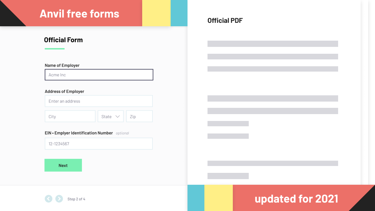 Free forms updated for 2021