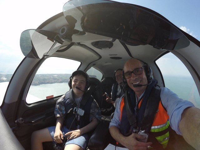 Alfie & Glyn with Pilot Nick