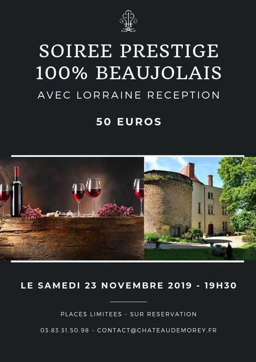 Soirée prestige 100% beaujolais
