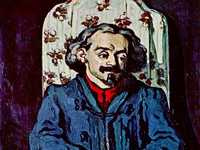 Cezanne's portrait of his friend Achille Emperaire was rejected by the 1870 Salon jury.