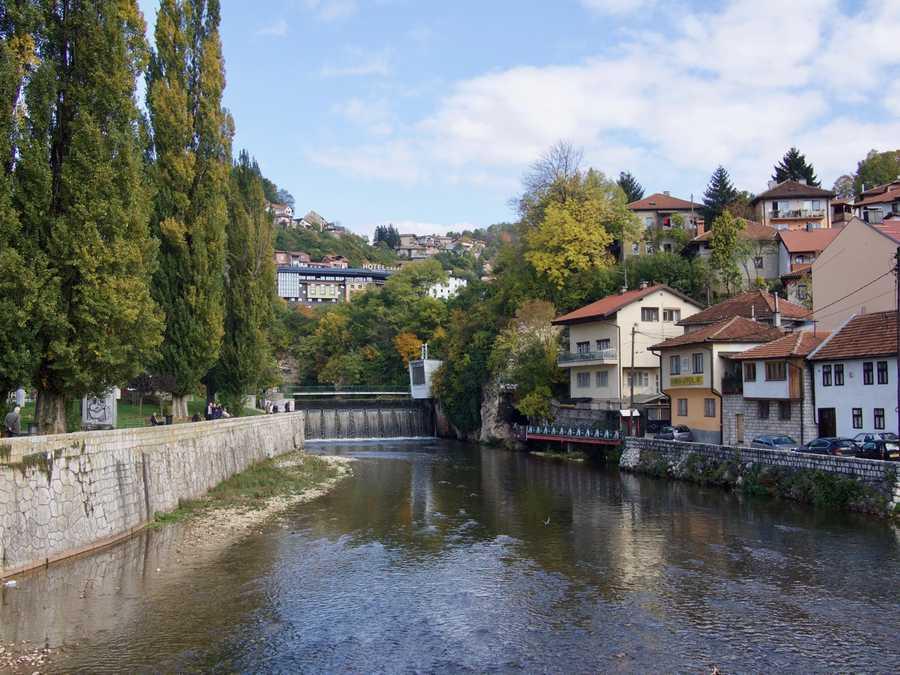 The river of Sarajevo