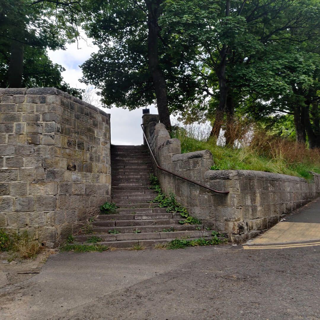 Farsley Recreation Ground steps