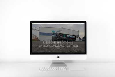 K. Liesecke GmbH Erstellung einer statischen Website Projekt Screenshot