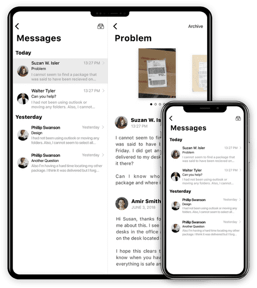 PackageX messaging feature