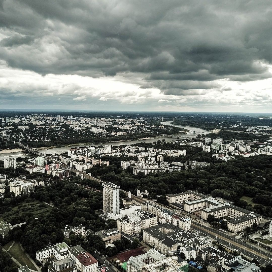 aerial photo of Warsaw