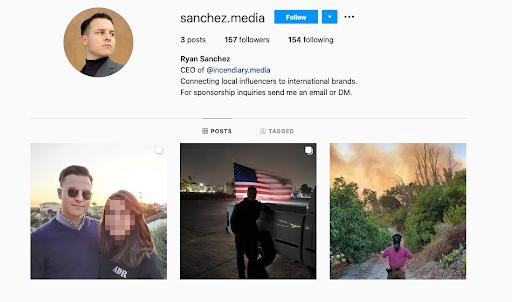 Ryan Sanchez's Instagram confirms his identity as CultureWarCriminal