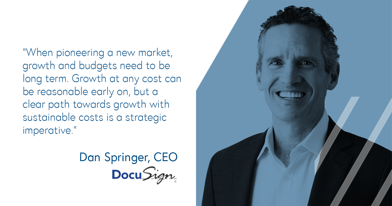 Sustainable business growth according to Dan Springer, CEO of DocuSign