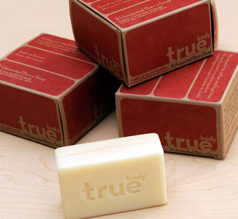 The packaging of TrueBody Products
