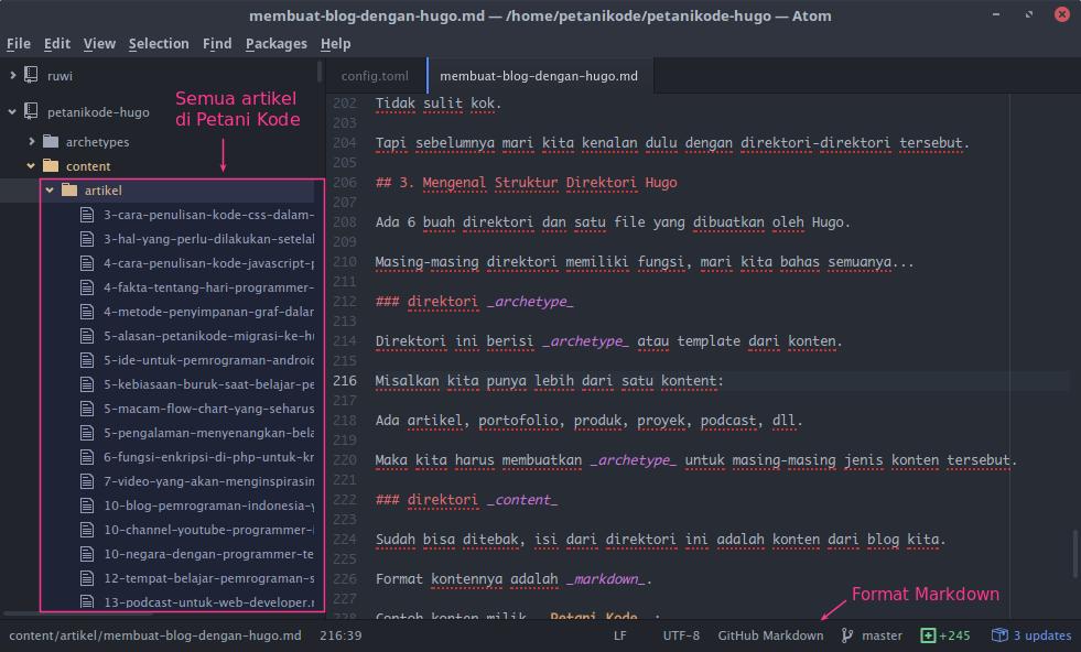 Konten Blog Petani Kode