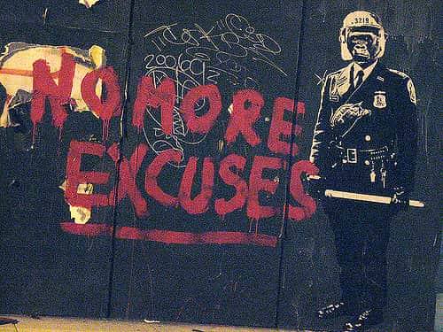 no more excuses graffiti