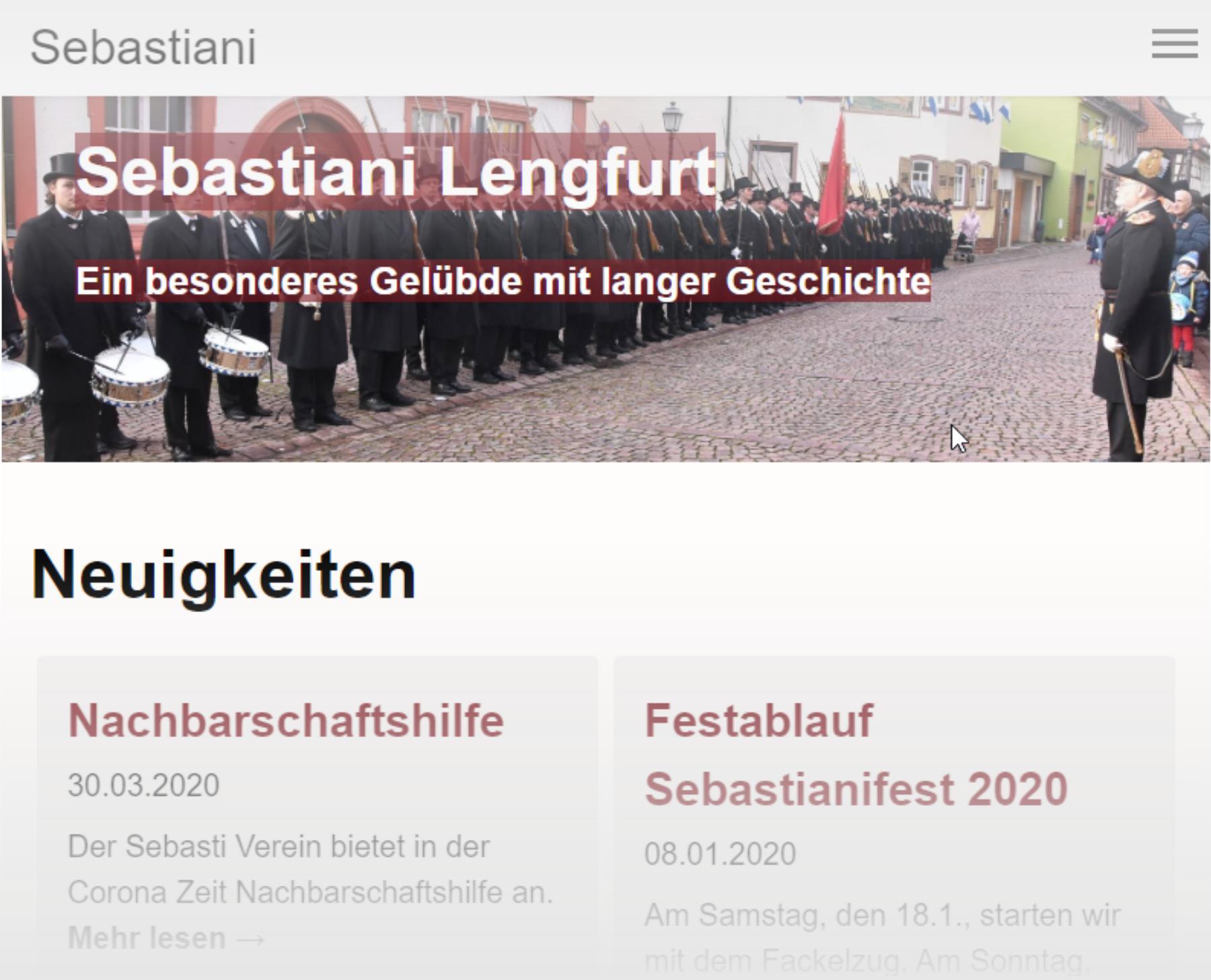Überarbeitete Homepage
