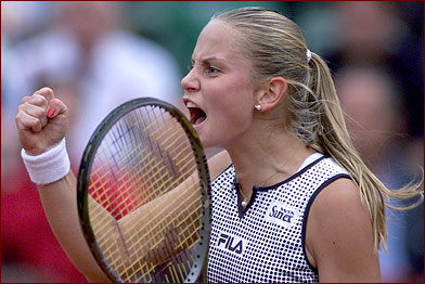 Jelena Dokic at Roland Garros, 2002