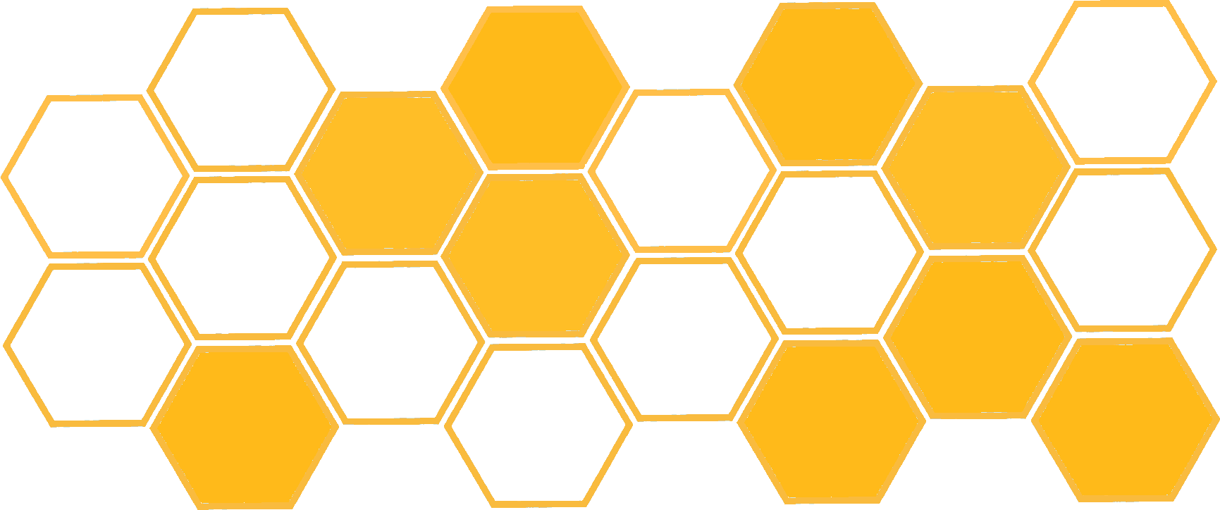 mobile navigation honeycomb decoration
