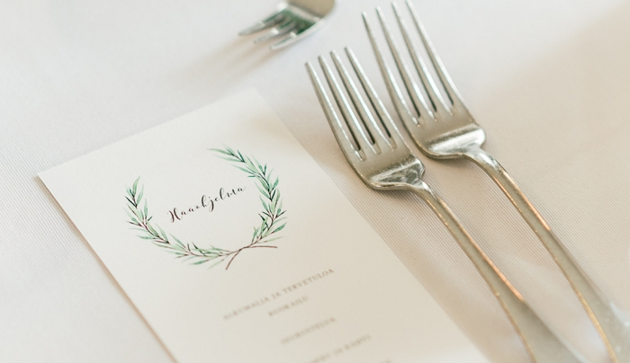 Green laurel menu design. Photo by ADLV Photography.  item thumbnail