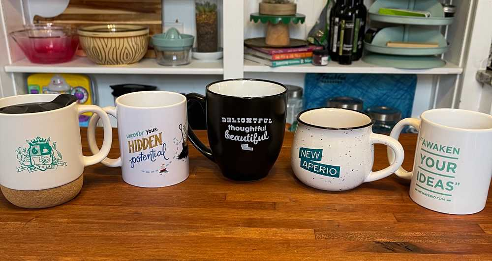 NewAperio coffee mugs