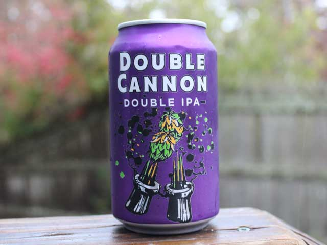 Double Cannon, a Double IPA brewed by Heavy Seas Beer
