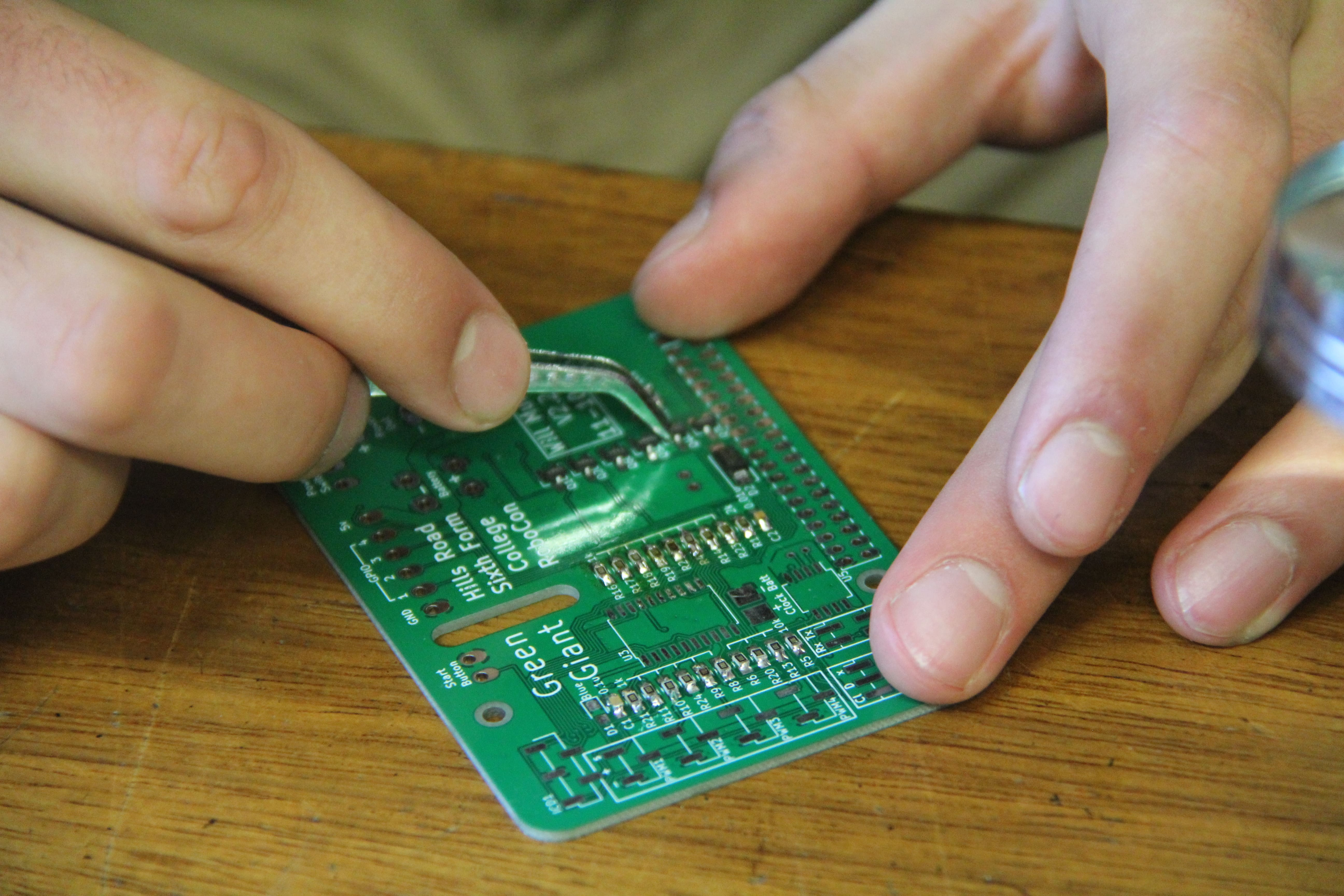 Soldering components to the board
