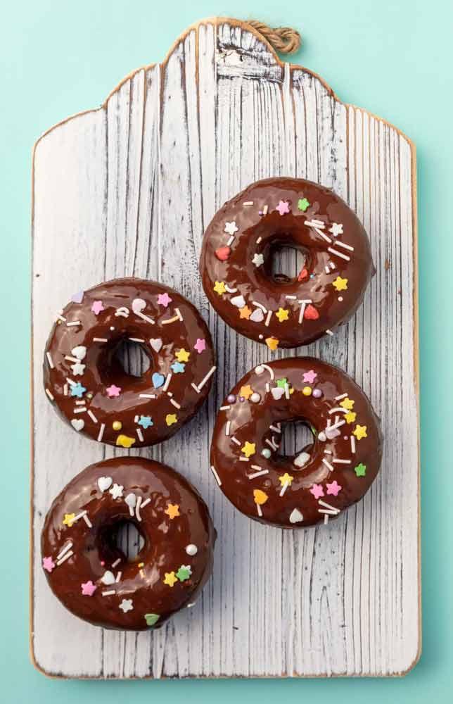 vegan chocolate covered banana bread donuts