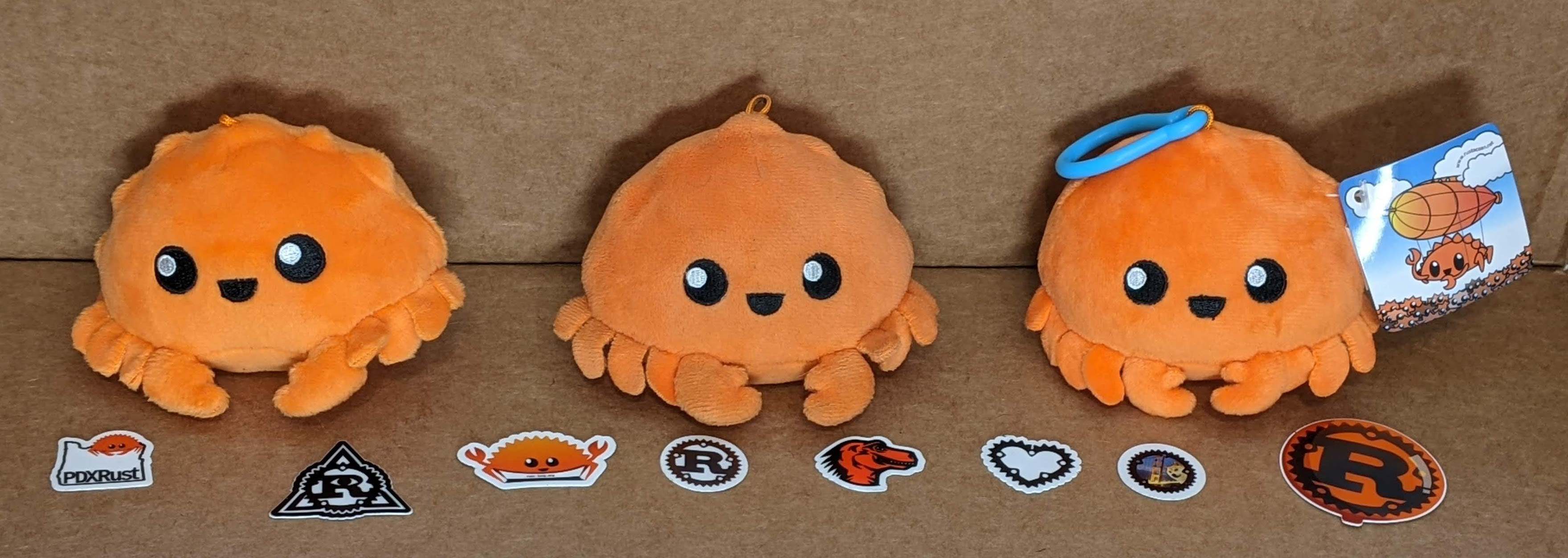 Ferris plushies and Rust stickers