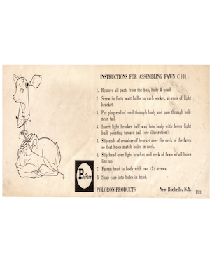 Poloron Products Fawn #C101 Instruction Manual.pdf preview