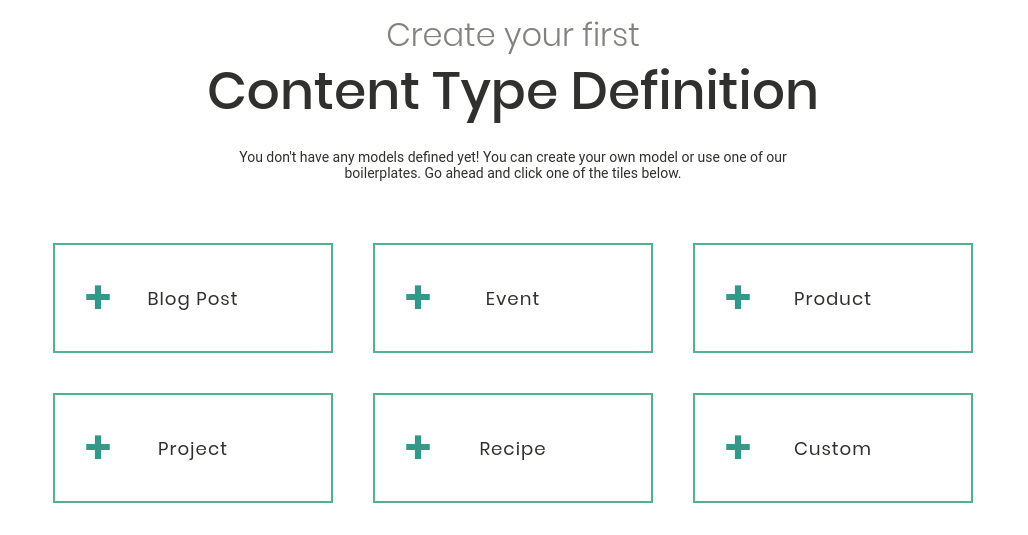 Boilerplate content type definitions have their Github repositories with demo projects
