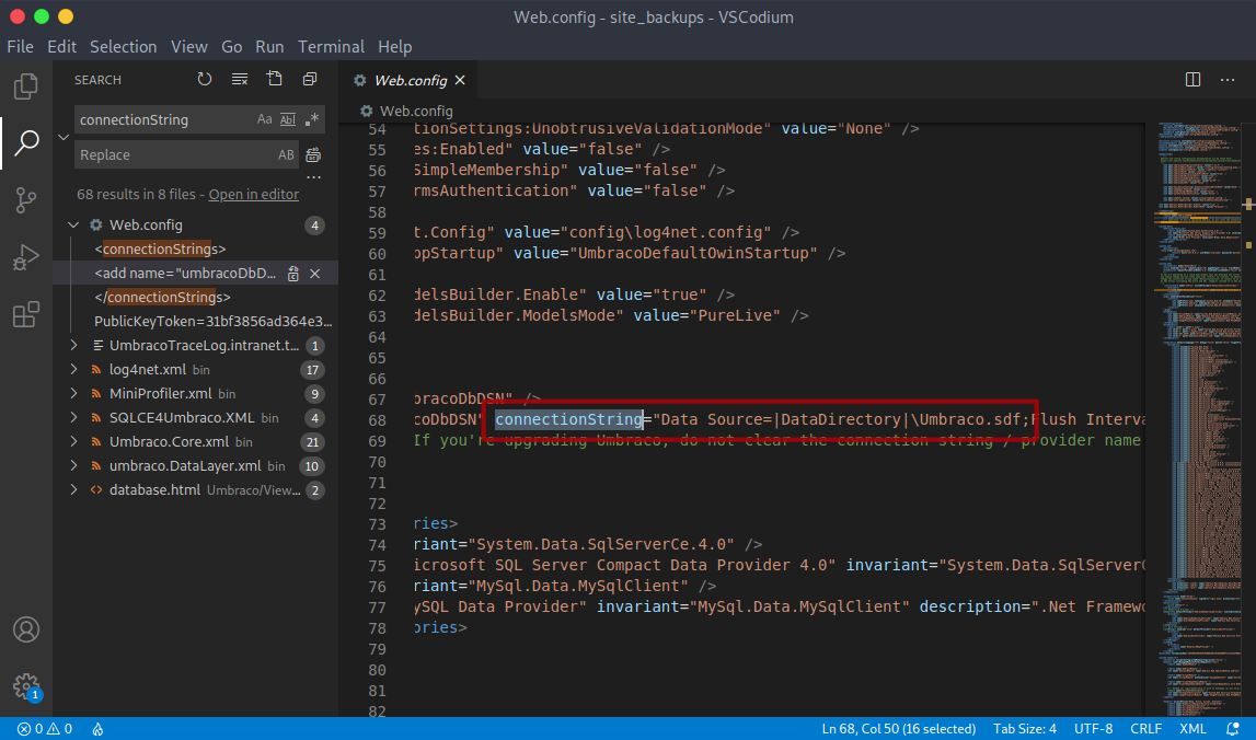 Umbraco Connection String