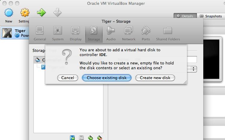 Add Hard Disk menu options