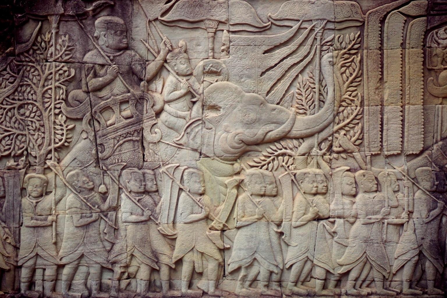 Bayon Temple, bas-relief