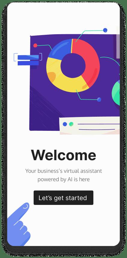 Ai assistant mobile app design