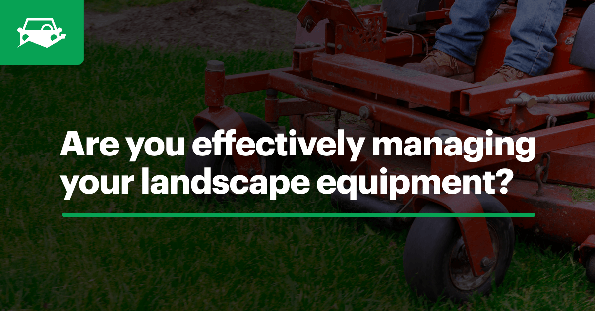 Landscape equip maintenance visual