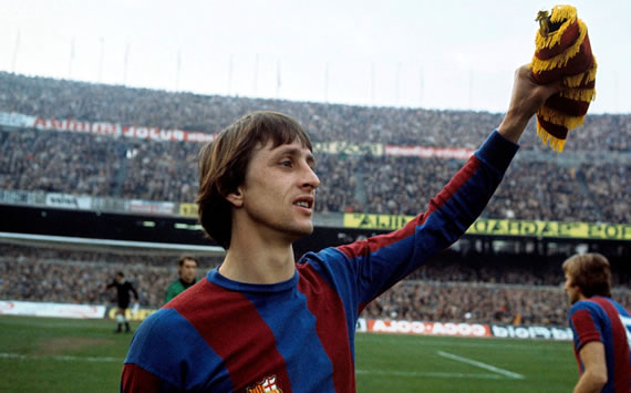 Johan Cryuff playing for FC Barcelona, photo courtesy of Goal.com