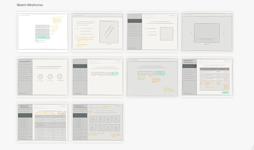 Inflection website wireframes, by Miriam Braimah