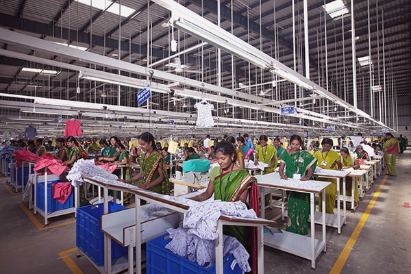 clothing manufacturing factory