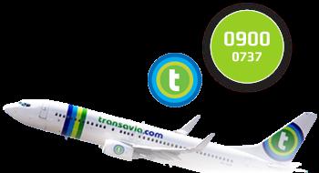 Transavia gebruikt een 0900-nummer.