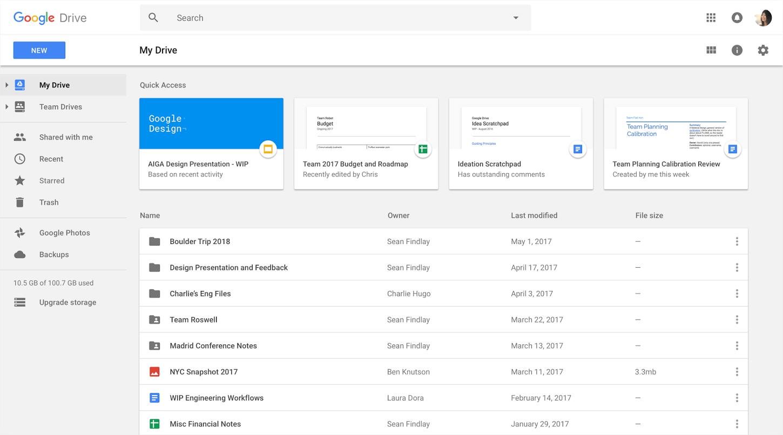 File sharing tool Google Drive