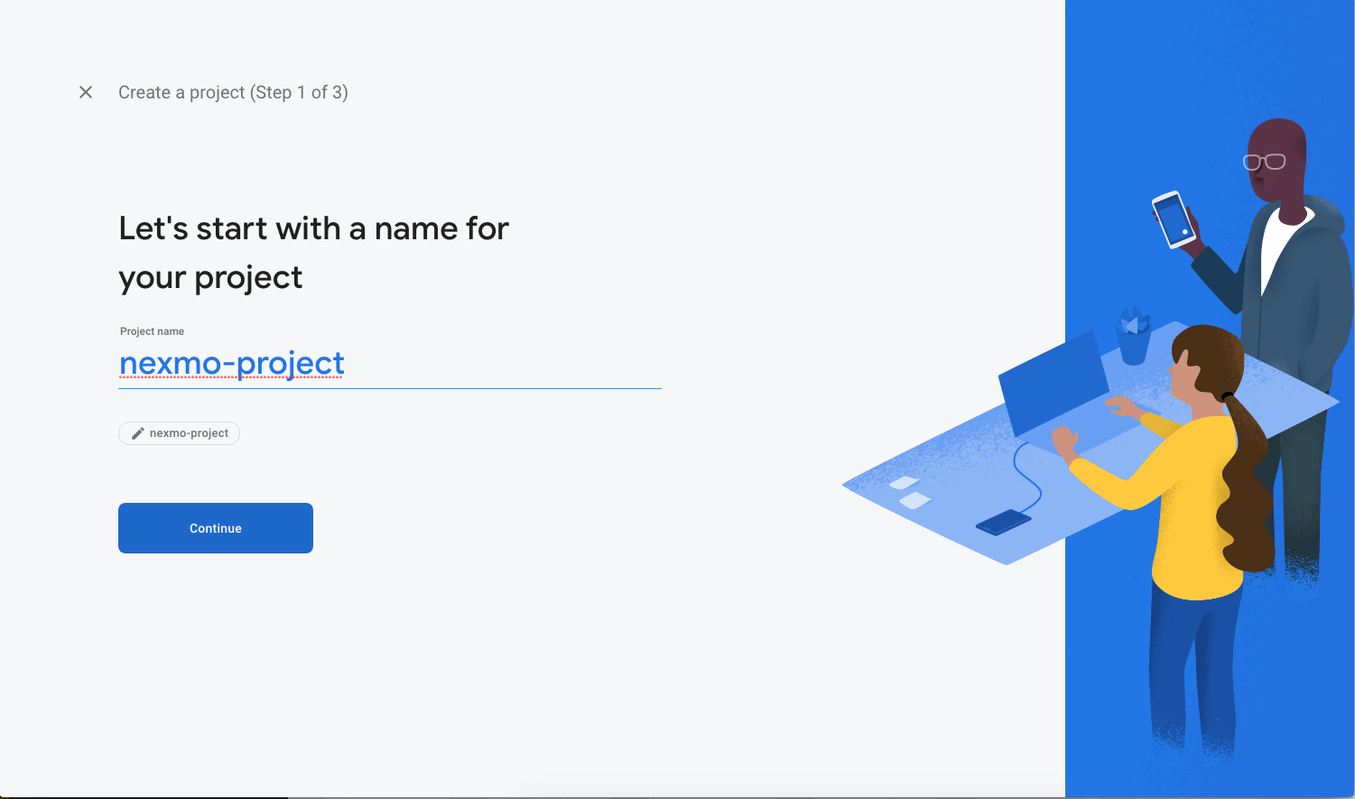 Naming your project