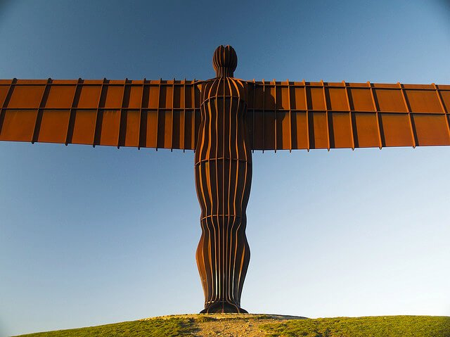 The real Angel of the North