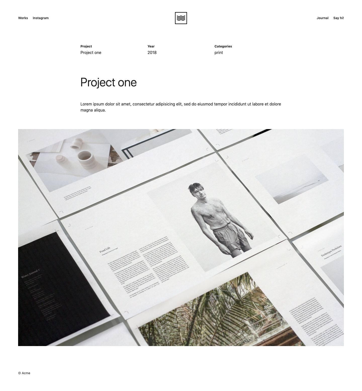 single portfolio item