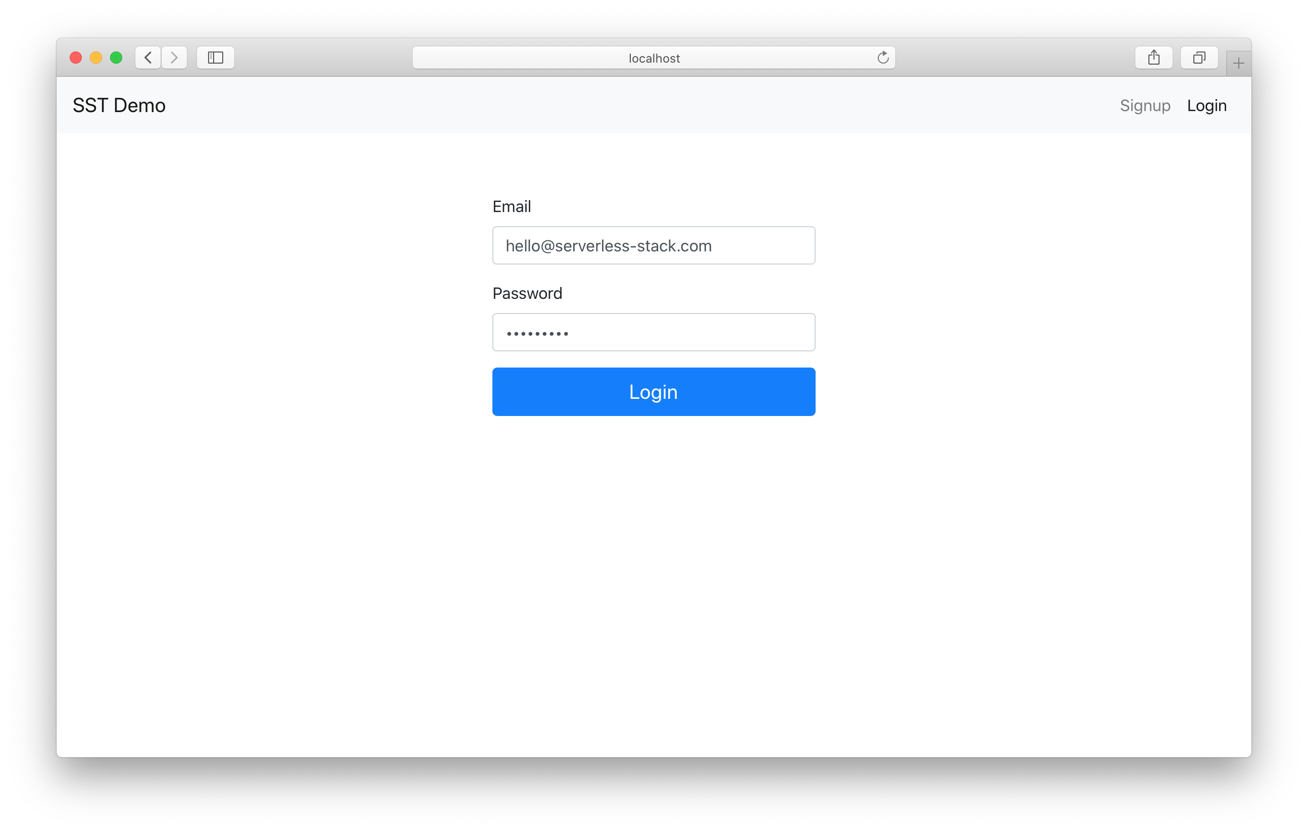 Login with Cognito in React.js app