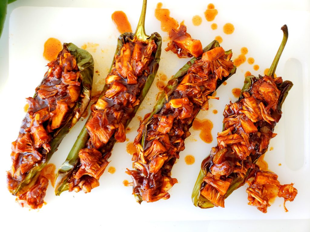 Anaheim Peppers Stuffed with BBQ Jackfruit | Let's Talk Vegan