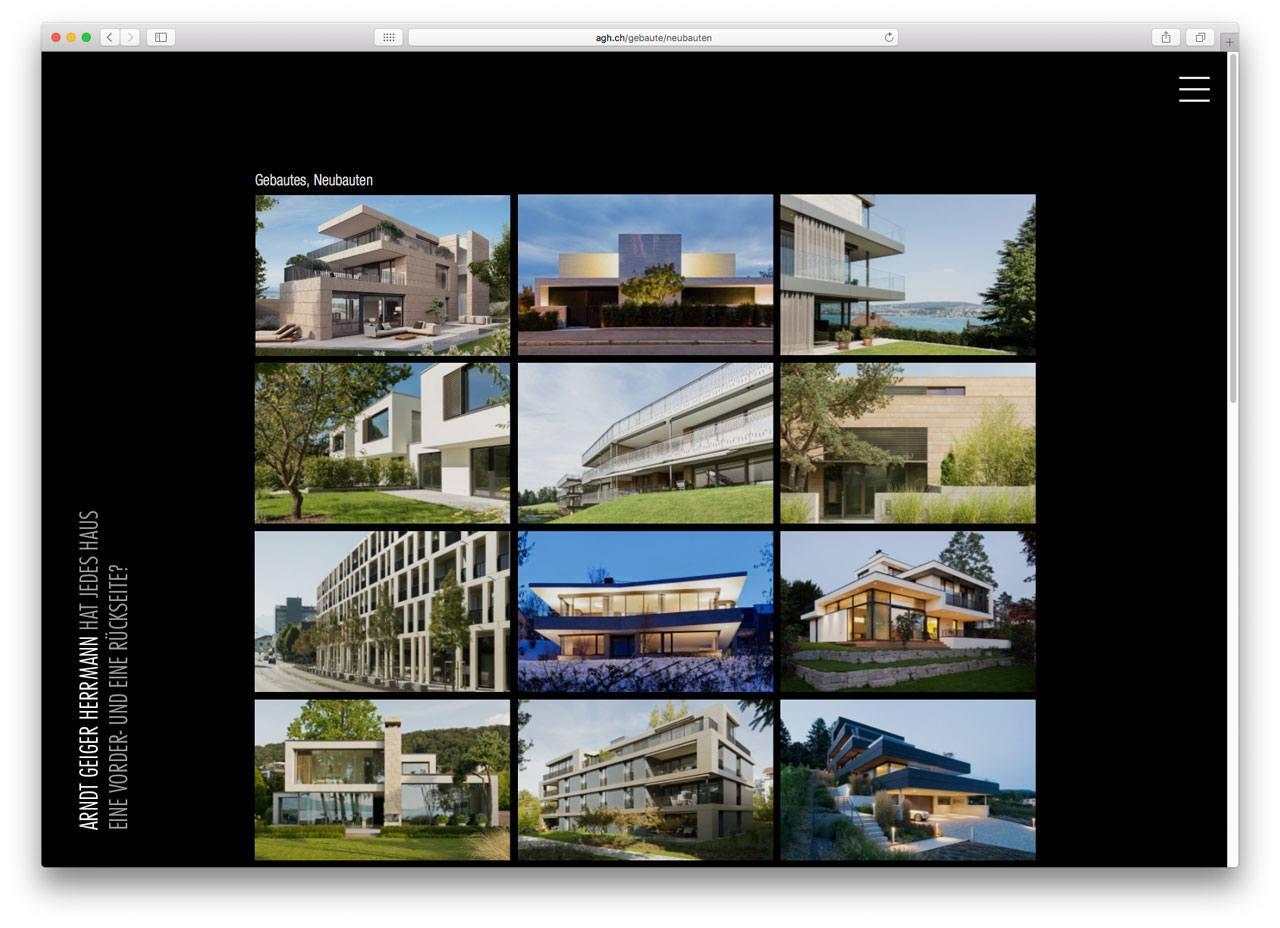 CMS Architekturportfolio Screenshot