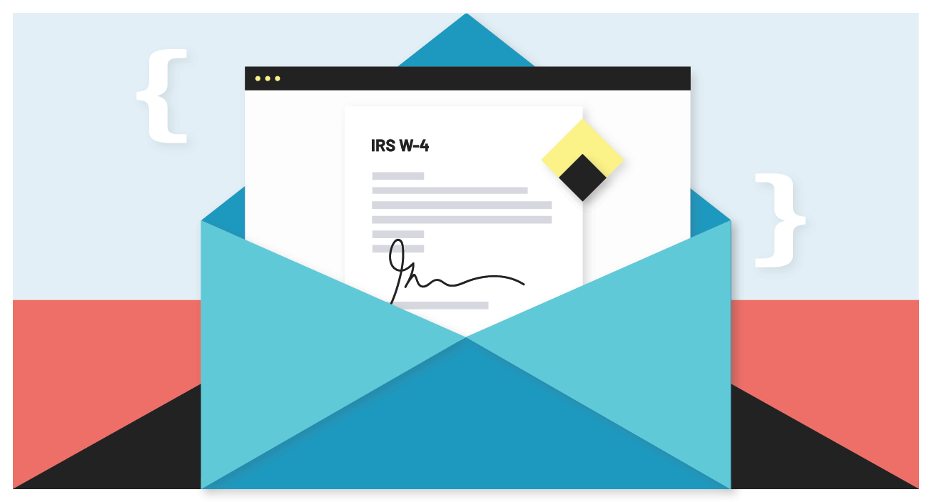 Add e-signatures to your app with an HR IRS W-4 PDF example