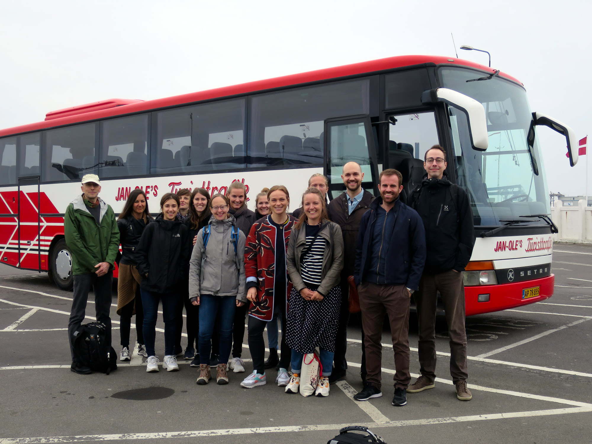 The group upon arrival on Bornholm