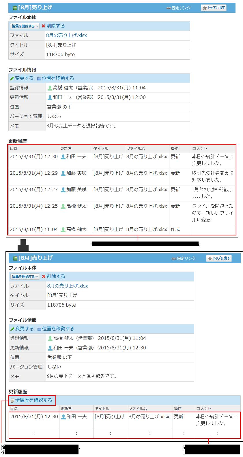 表示件数設定のイメージ