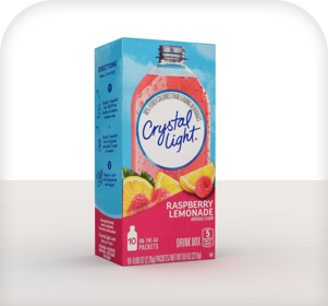 Crystal light is a cold water enhancer from standard coffee service