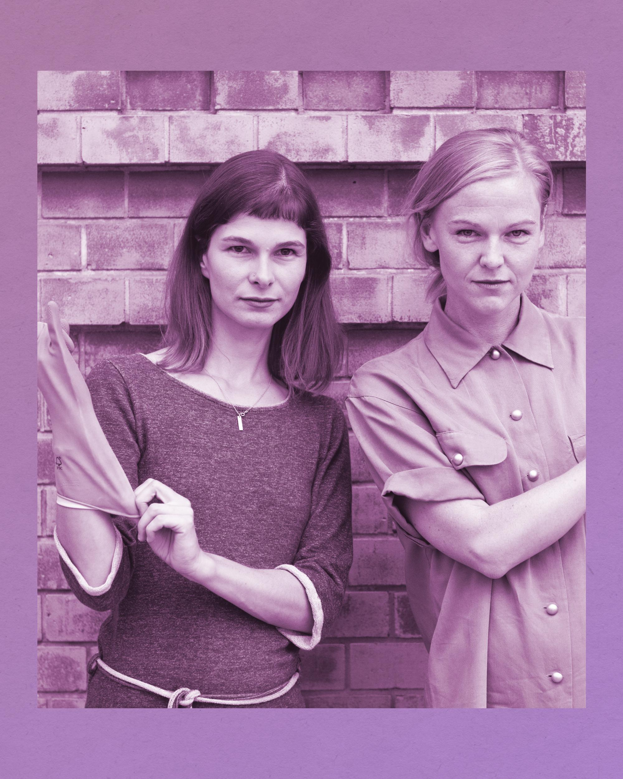 Julia Seeliger und Luise Zaluski, die Gründerinnen des Putz-Start-ups Klara Grün