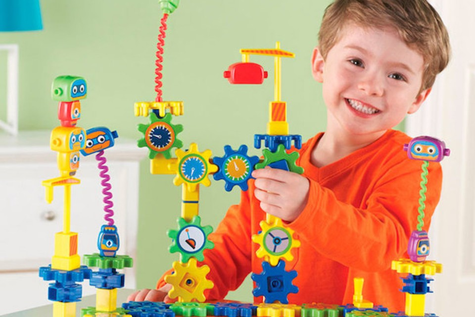 A child playing with toys